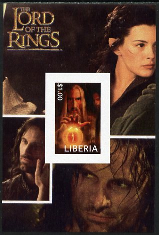 Liberia 2003 Lord of the Rings #5 imperf s/sheet unmounted mint