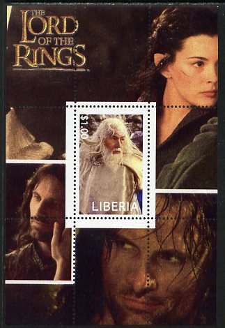 Liberia 2003 Lord of the Rings #6 perf s/sheet unmounted mint
