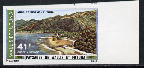 Wallis & Futuna 1976 Landscapes 41f (Sigave Bay) imperf proof from limited printing unmounted mint, SG 251*