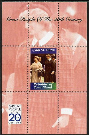 Somaliland 1999 Great People of the 20th Century - Queen Mother & Princess Diana perf souvenir sheet unmounted mint. Note this item is privately produced and is offered purely on its thematic appeal