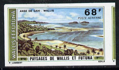 Wallis & Futuna 1976 Landscapes 68f (Gahi Bay) imperf proof from limited printing unmounted mint, SG 252*
