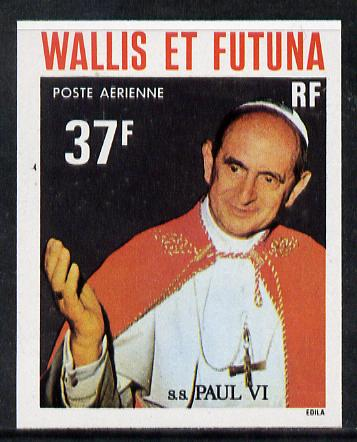 Wallis & Futuna 1979 Popes 37f (Pope Paul VI) imperf proof from limited printing, SG 304*