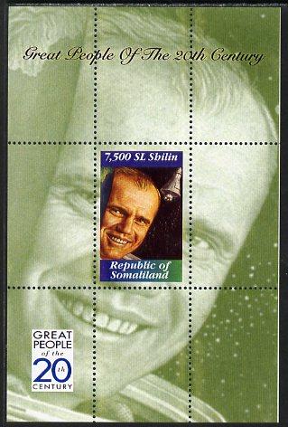Somaliland 1999 Great People of the 20th Century - John Glenn perf souvenir sheet unmounted mint