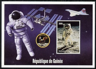 Guinea - Conakry 2004 (?) Space Exploration #2 perf souvenir sheet unmounted mint. Note this item is privately produced and is offered purely on its thematic appeal