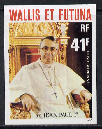 Wallis & Futuna 1979 Popes 41f (Pope John-Paul I) imperf proof from limited printing, SG 305*