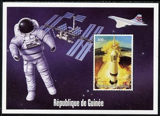Guinea - Conakry 2004 (?) Space Exploration #3 perf souvenir sheet unmounted mint. Note this item is privately produced and is offered purely on its thematic appeal