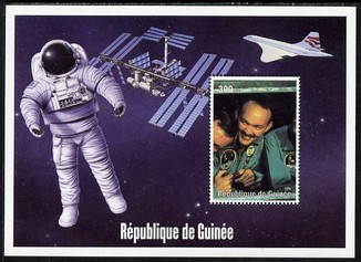 Guinea - Conakry 2004 (?) Space Exploration #4 perf souvenir sheet unmounted mint. Note this item is privately produced and is offered purely on its thematic appeal