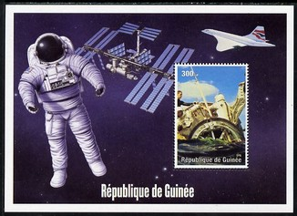 Guinea - Conakry 2004 (?) Space Exploration #6 perf souvenir sheet unmounted mint. Note this item is privately produced and is offered purely on its thematic appeal