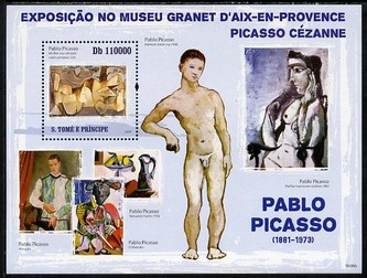 St Thomas & Prince Islands 2009 Paintings by Pablo Picasso perf s/sheet unmounted mint