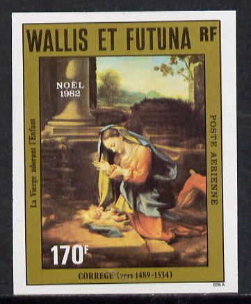 Wallis & Futuna 1982 Christmas (Adoration of the Virgin) imperf proof from limited printing unmounted mint, SG 416*