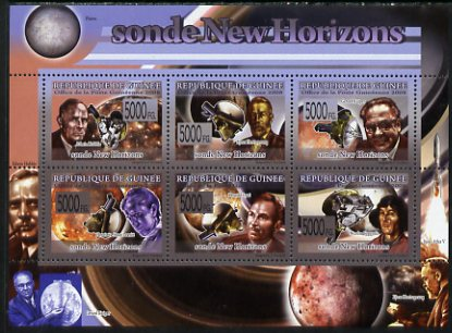 Guinea - Conakry 2009 New Space Probes perf sheetlet containing 6 values unmounted mint
