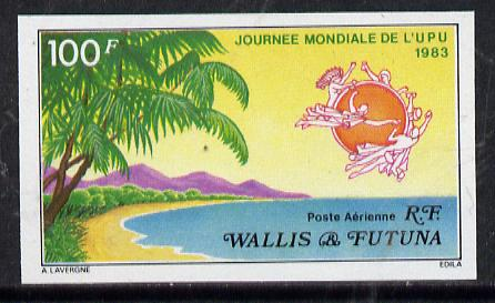 Wallis & Futuna 1983 UPU Day (Island Scene) imperf proof from limited printing, SG 420*