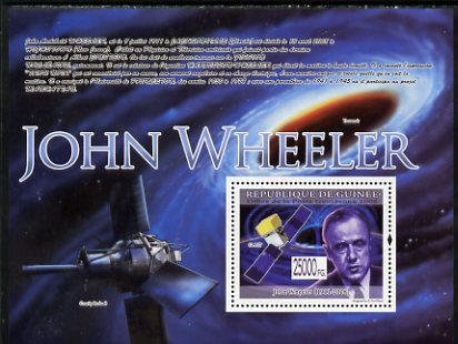 Guinea - Conakry 2009 Death of John Wheeler perf s/sheet unmounted mint