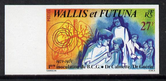 Wallis & Futuna 1981 BCG Inoculations) imperf proof from limited printing unmounted mint, SG 376*