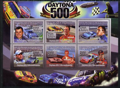 Guinea - Conakry 2008 Daytona 500 perf sheetlet containing 6 values unmounted mint