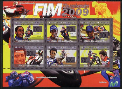 Guinea - Conakry 2008 Tenth Anniversary of International Motorcycle Federation perf sheetlet containing 6 values unmounted mint