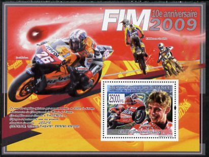 Guinea - Conakry 2008 Tenth Anniversary of International Motorcycle Federation perf s/sheet unmounted mint