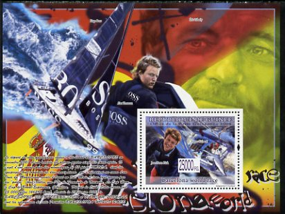 Guinea - Conakry 2008 Barcelona World Sailing Championships perf s/sheet unmounted mint