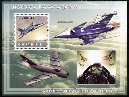 Mozambique 2009 History of Transport - Aviation #05 perf s/sheet unmounted mint