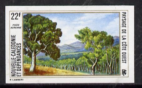 New Caledonia 1974 West Coast Landscapes 22f imperf proof from limited printing unmounted mint, SG 535*