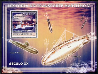 Mozambique 2009 History of Transport - Ships #05 perf s/sheet unmounted mint