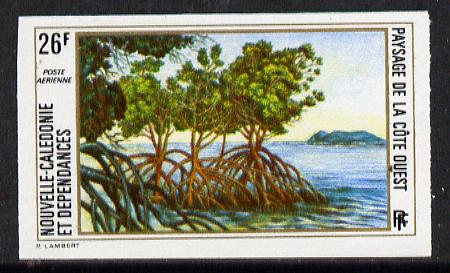 New Caledonia 1974 West Coast Landscapes 26f imperf proof from limited printing unmounted mint, SG 536*