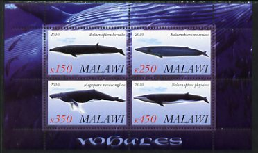 Malawi 2010 Whales perf sheetlet containing 4 values unmounted mint