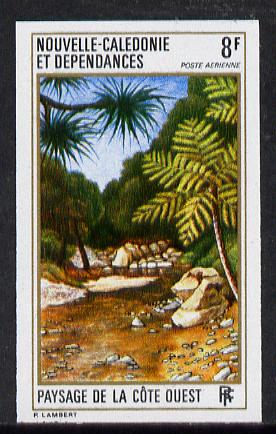 New Caledonia 1974 West Coast Landscapes 8f (Palms) imperf proof from limited printing unmounted mint, SG 534*