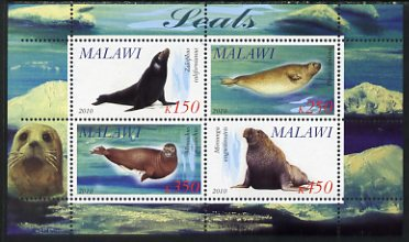 Malawi 2010 Seals perf sheetlet containing 4 values unmounted mint