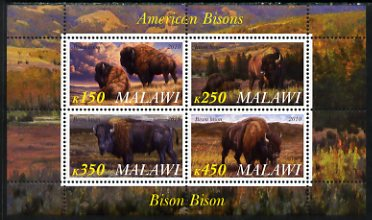 Malawi 2010 American Bison perf sheetlet containing 4 values unmounted mint