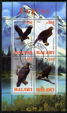 Malawi 2010 Eagles perf sheetlet containing 4 values fine cto used