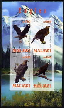 Malawi 2010 Eagles imperf sheetlet containing 4 values unmounted mint