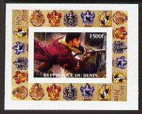 Benin 2001 Harry Potter #4 individual imperf deluxe sheet unmounted mint                                                                                                  ...