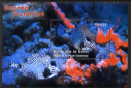 Guinea - Conakry 1998 Marine Life #1 - Trunkfish perf s/sheet, Michel BL643 unmounted mint. Note this item is privately produced and is offered purely on its thematic appeal