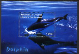 Guinea - Conakry 1998 Marine Life #2 - Dolphin perf s/sheet, Michel BL643 unmounted mint. Note this item is privately produced and is offered purely on its thematic appeal