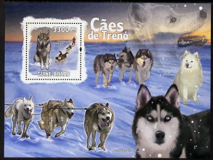 Guinea - Bissau 2009 Sled Dogs perf s/sheet unmounted mint
