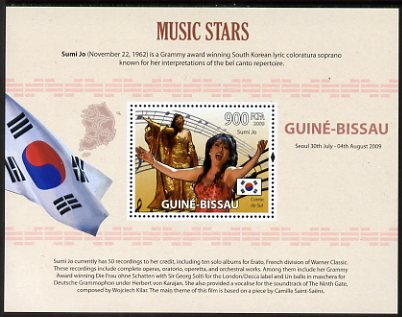 Guinea - Bissau 2009 Famous Musicians perf s/sheet (English Text) unmounted mint