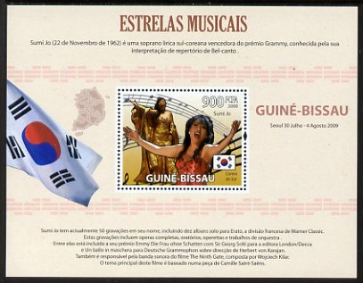 Guinea - Bissau 2009 Famous Musicians perf s/sheet (Portuguese Text) unmounted mint