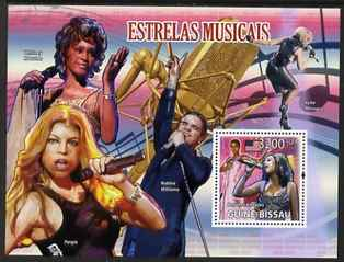 Guinea - Bissau 2009 Famous Musicians perf m/sheet unmounted mint