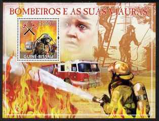 Guinea - Bissau 2009 Fire Fighters perf s/sheet unmounted mint