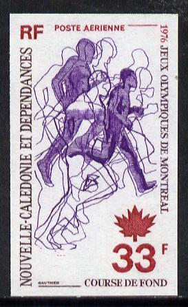 New Caledonia 1976 Montreal Olympic Games 33f (Athletics) imperf proof from limited printing unmounted mint, SG 570*
