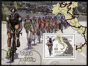 Guinea - Bissau 2009 Cycling in Italy perf s/sheet unmounted mint Michel BL 682