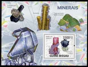 Guinea - Bissau 2009 Minerals perf s/sheet unmounted mint Michel BL 684