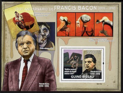 Guinea - Bissau 2009 Paintings by Francis Bacon perf s/sheet unmounted mint Michel BL 689