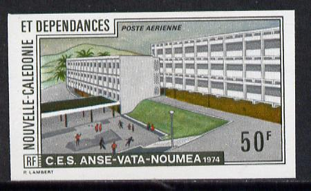 New Caledonia 1974 Scientific Studies (Building) imperf proof from limited printing, SG 537*