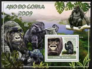 Guinea - Bissau 2009 Year of the Gorilla perf s/sheet unmounted mint Michel BL 693