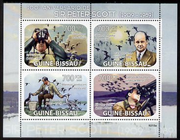 Guinea - Bissau 2009 Sir Peter Scott perf sheetlet containing 4 values unmounted mint Michel 4153-56