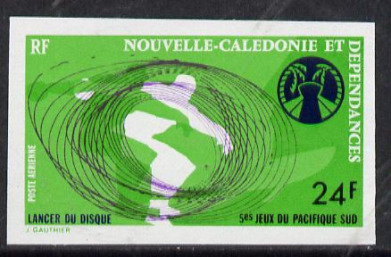 New Caledonia 1974 South Pacific Games 24f (Discus) imperf proof from limited printing, SG 555*