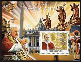 Guinea - Bissau 2009 80th Anniversary of the Vatican perf s/sheet unmounted mint Michel BL 692