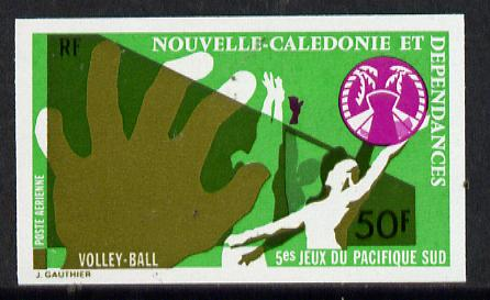 New Caledonia 1974 South Pacific Games 50f (Volleyball) imperf proof from limited printing unmounted mint, SG 556*
